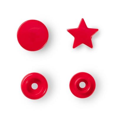 Prym Color Snaps 12,4mm - 30 Stk. Stern, rot 393238