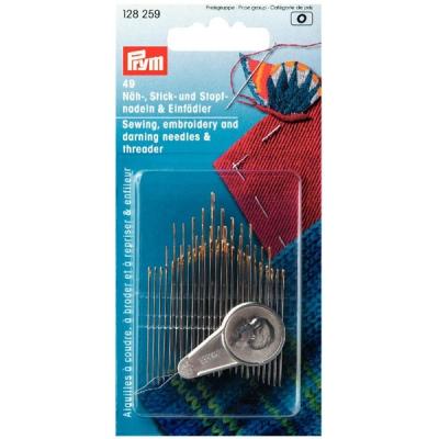 Prym Nadelsortiment 49 Nadeln und Einfädler 128259