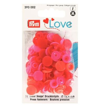 Prym Love Color Snaps 30 Stk. rot, orange, pink 393002