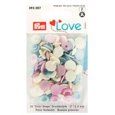Prym Love Color Snaps 30 Stk. rosa, hellblau, perle 393007