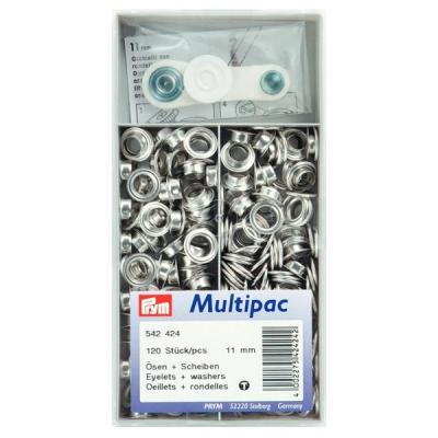 Prym Ösen mit Scheiben Multipac 11mm 542424