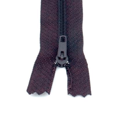 10 Reißverschlüsse schwarzbraun 20cm