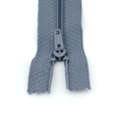 10 Reißverschlüsse grau 20cm
