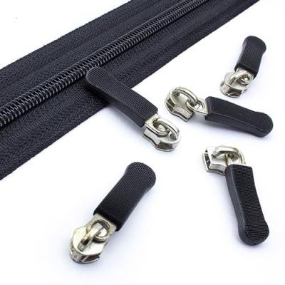 10 Schieber 5mm silber mit Kappe