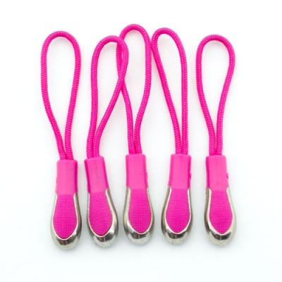 Reißverschlussanhänger pink mit Metallspitze 5er Pack