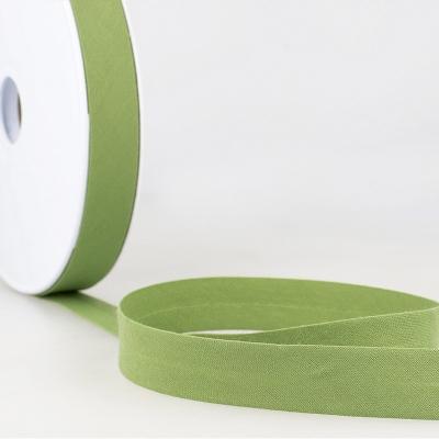 Schrägband grün aus Baumwolle PES 20mm
