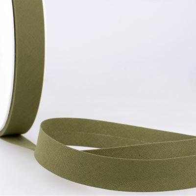 Schrägband khaki aus Baumwolle PES 20mm