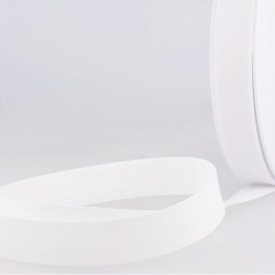 Schrägband reinweiß aus Baumwolle PES 20mm