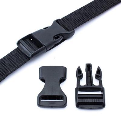 Steckschnalle 20mm schwarz