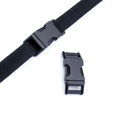 Metall-Steckschnalle 20mm schwarz gebogen