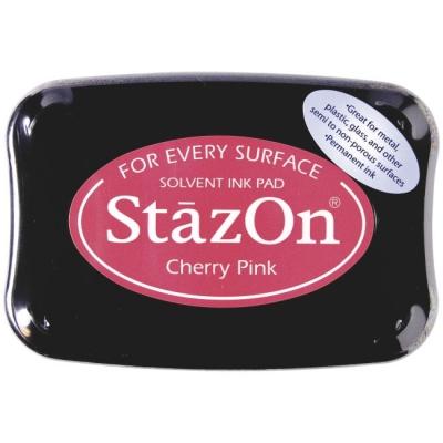 Stempelkissen 10 x 7 cm cherry pink