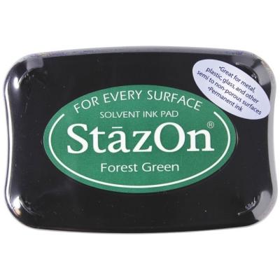 Stempelkissen 10 x 7 cm forest green