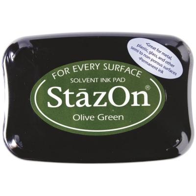 Stempelkissen 10 x 7 cm olive green