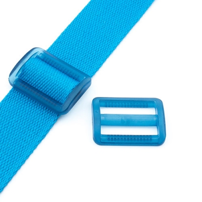Gurtband-Regulierer 40mm blau transparent
