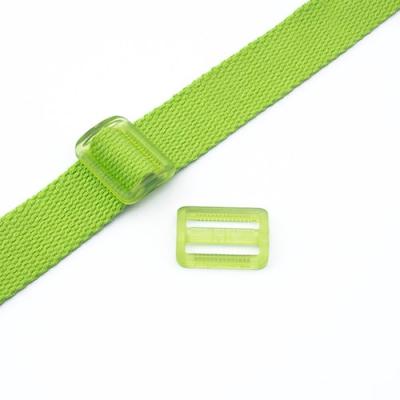 Gurtband-Regulierer 25mm grün transparent
