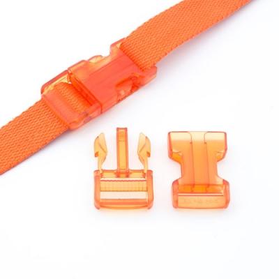 Steckverschluss 25mm orange transparent