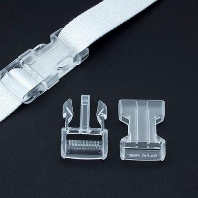 Steckverschluss 25mm transparent