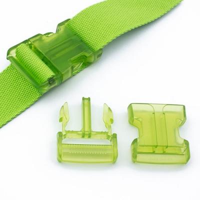 Steckverschluss 40mm grün transparent