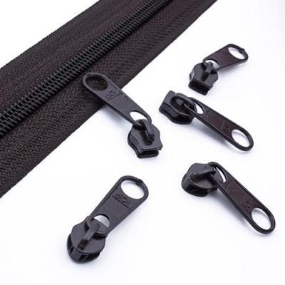 10 Schieber schwarzbraun 5mm