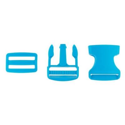 Taschenverschluss mit Regulierer 40mm türkisblau