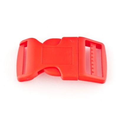Steckschnalle 25 mm gebogen rot