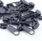 10 Stück Reißverschlussschieber dunkelgrau 8mm