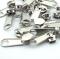 10 Stück Reißverschlussschieber silber 8mm