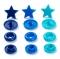 Prym Love Color Snaps, Stern, 12,4mm, blau/türkis/tinte 393060