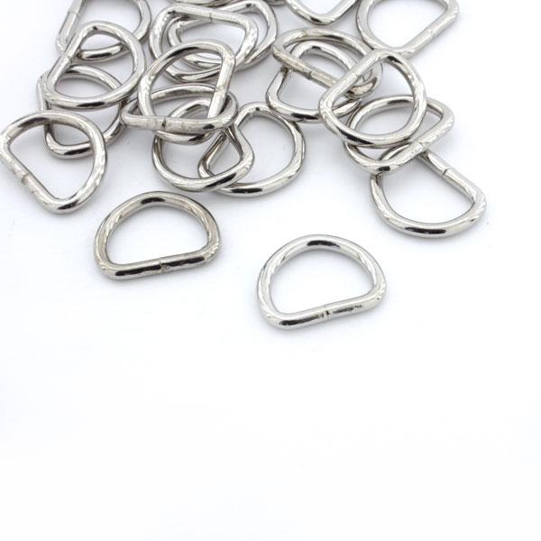 Halbringe//D-Ringe silber 15 mm 10er Set