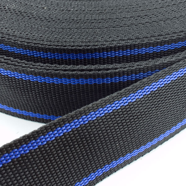 gurtband zweifarbig schwarz blau 40mm online kaufen. Black Bedroom Furniture Sets. Home Design Ideas